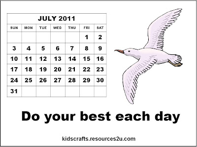printable calendars july. Free Calendar 2011 July for