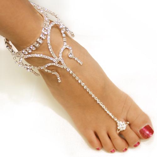 Bridal Basics: Gorgeous Foot Jewels