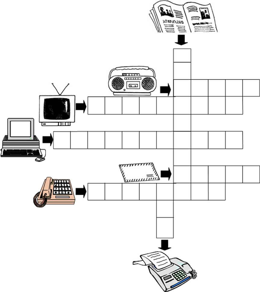 CRUCIGRAMA DE LOS MEDIOS DE COMUNICACIÓN