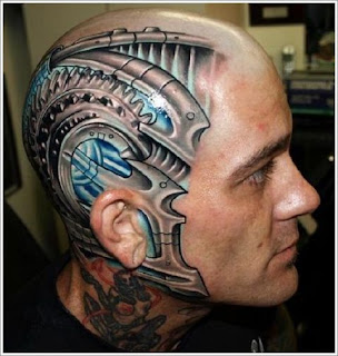 Head Tattoo for Guys