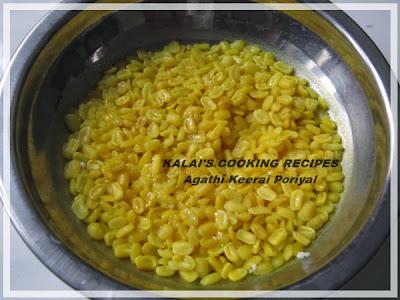Agathi Keerai Poriyal | அகத்தி கீரை பொரியல் | Humming Brid Tree Leaves Poriyal