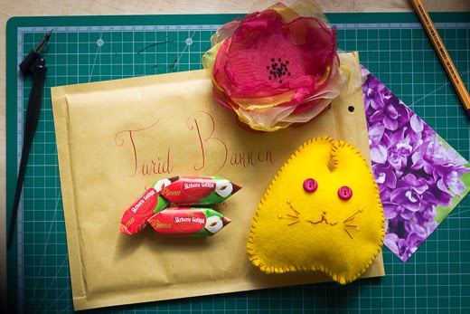 Yellow cat pincushion