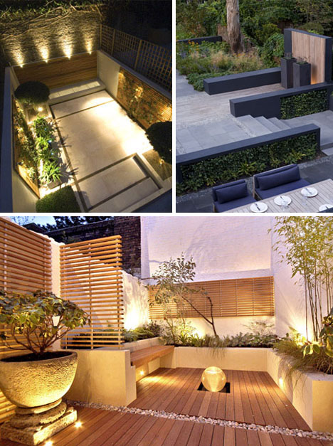 Decoraci n de jardines modernos en casas urbanas por for Decoracion jardines modernos