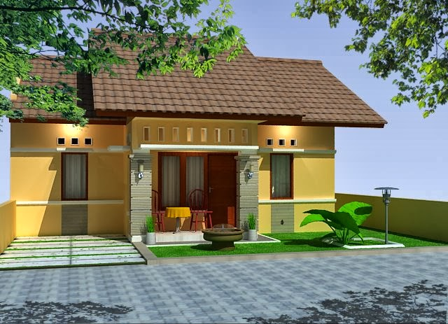 Desain Rumah Minimalis Sederhana 1 lantai Sederhana