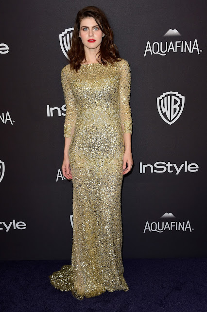 Actress, Model, @ Alexandra Daddario - InStyle And Warner Bros. Golden Globe Awards Post-Party in Beverly Hills