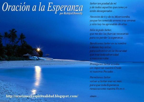 ORACIONES Y ESPIRITUALIDAD: Oración a la Esperanza...