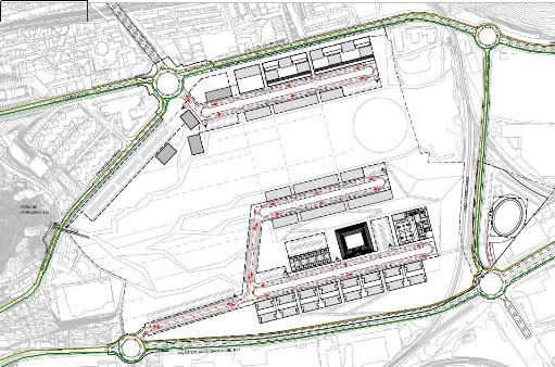 En verde los viales donde se tendrían que centran los esfuerzos en ejecutar infraestructuras ciclistas.