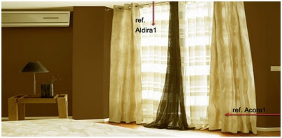 MODERN BEIGE CURTAIN DESIGN