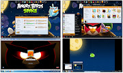 Angry Birds Space Skin Pack ( Transform Windows 7 to Angry Birds Space Game)