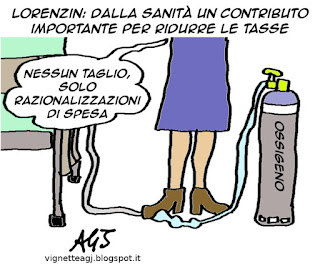 Sanità, spending review, Lorenzin, tasse, satira, vignetta
