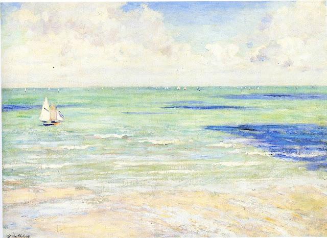 Seascape, Regatta at Villers by Gustave Caillebotte | Petite Silver Vixen