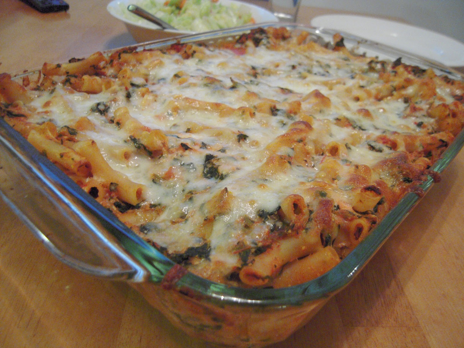 Sarah's Fares: Baked Ziti with Spinach