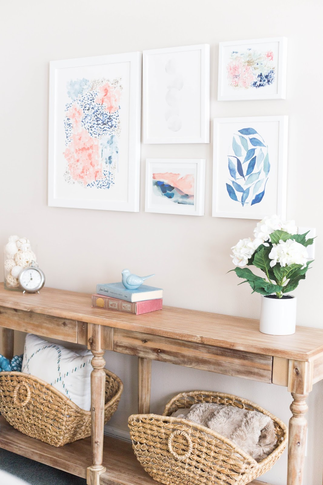 The Light Switch Is Covered By A Beautiful Flower Arrangement Still Leaving  Plenty Of Room To Flip It On And Off. This Foyer / Entry Table ...