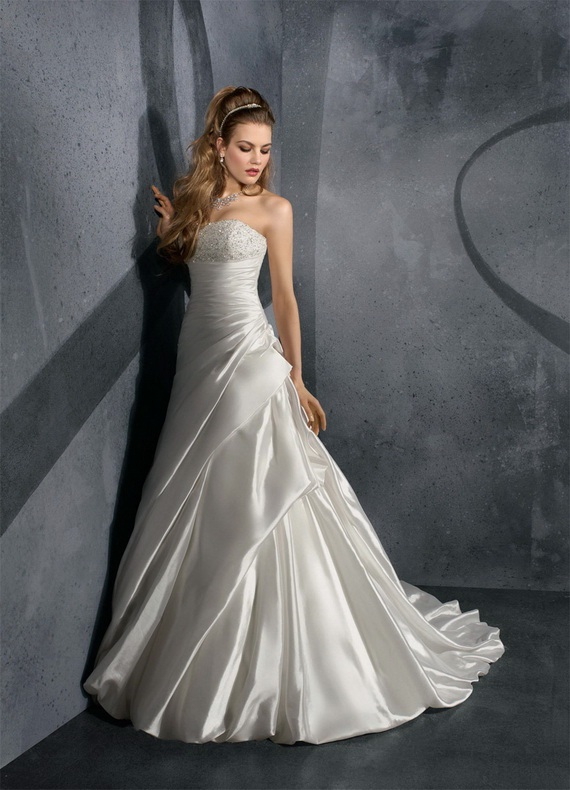 Mori lee bridal gowns for Mori lee taffeta wedding dress