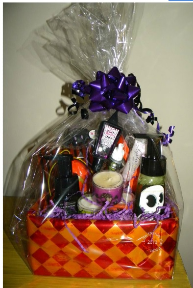 inside the page halloween gift basket idea