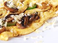 resep cheesy omelet jamur tiram