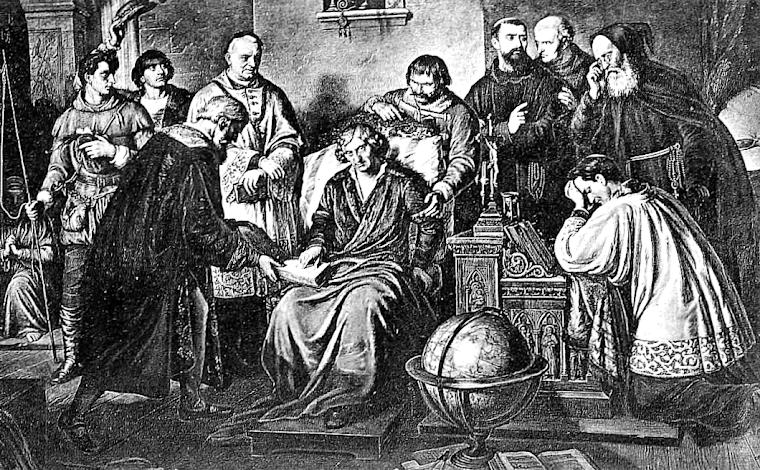 Smierc Kopernika -obraz Aleksandra Lessera