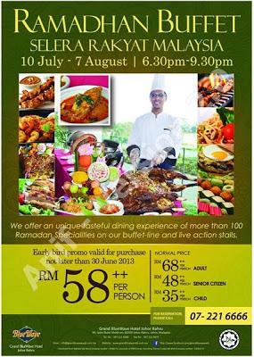 Grand Bluewave Johor Bahru Buffet Ramadhan 2013