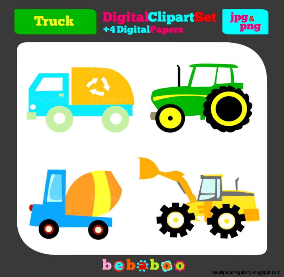 Popular items for truck clip art on Etsy