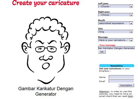Membuat Karikatur Dengan Karikatur Generator