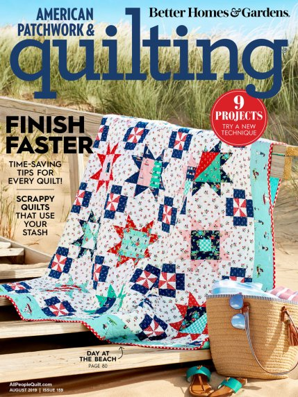 NEW! 2019 August American Patchwork & Quilting Magazine (CLICK !)