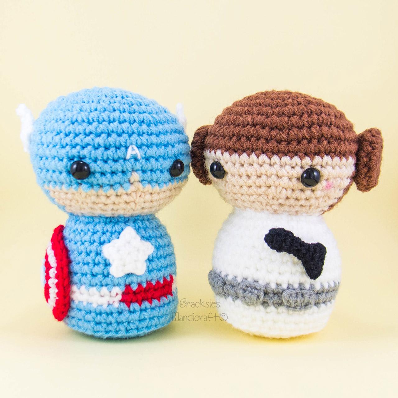 Captain America And Princess Leia Snacksies Handicraft Corner