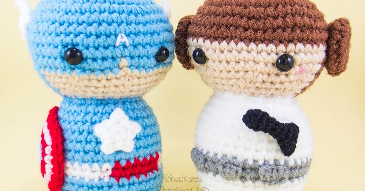 Minion Captain America Amigurumi : Captain America and Princess Leia ~ Snacksies Handicraft ...