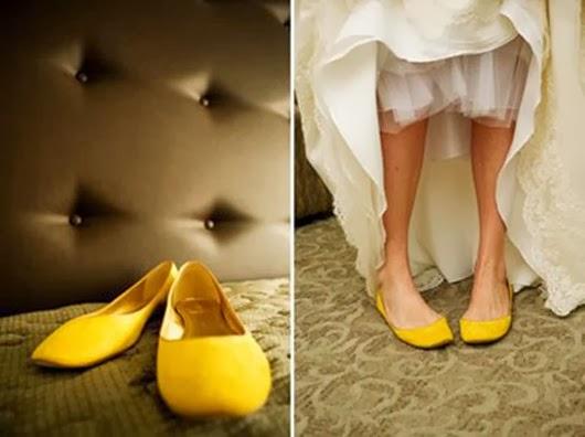 yellow-flats wedding shoes ideas