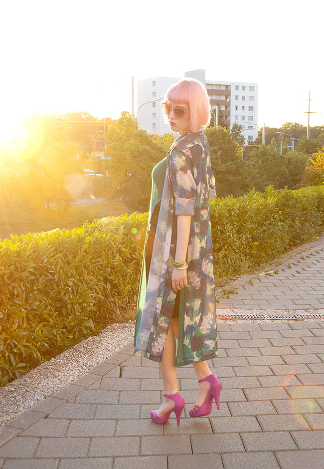 monki shirt dress, blogger street style, pink hair