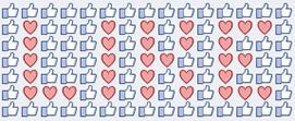 Emoticon Likes e Corações