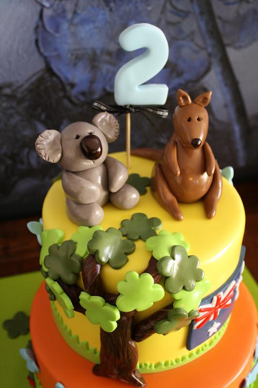 Sandys Cakes An Aussie Birthday Cake For An English Joseph