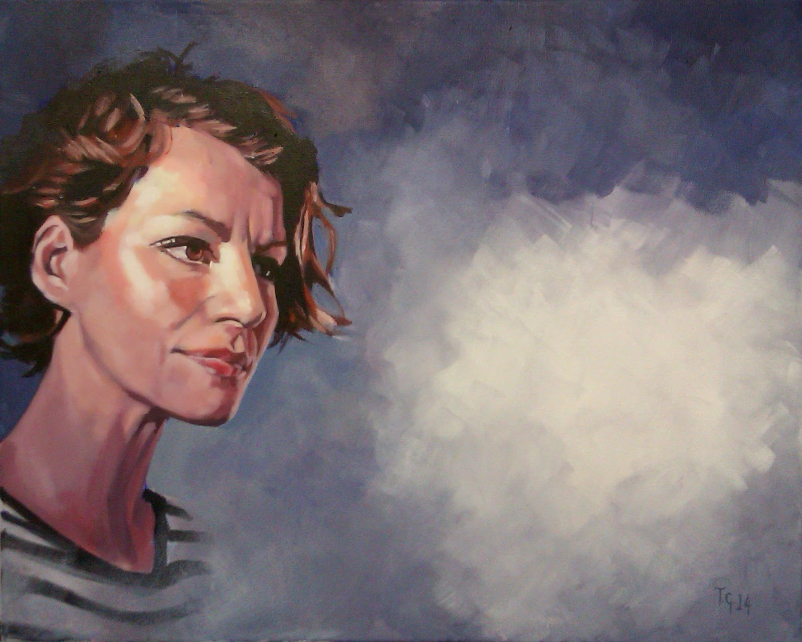 Painting No.20 for 'The Eternal Now' Theme of paintings, by Anthony Greentree
