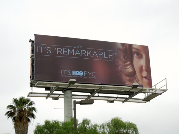 Girls Remarkable HBO Emmy billboard