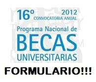 FORMULARIO DE BECAS 2012