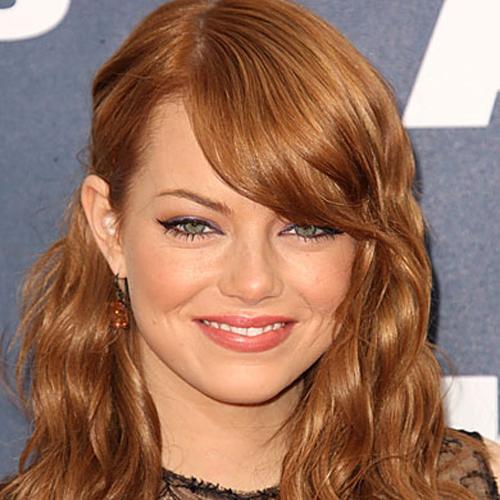 Emma Stone fringe hairstyle - Peekaboo Fringe