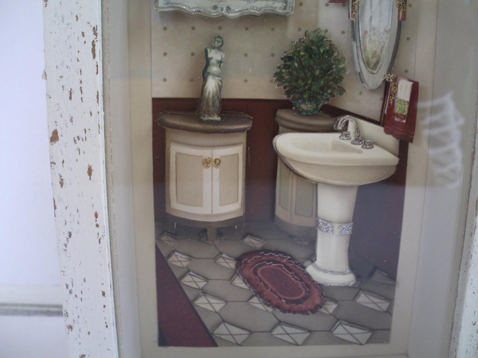 ARTEFATO BRASIL: Quadro banheiro arte francesa #515A7A 1600 1200