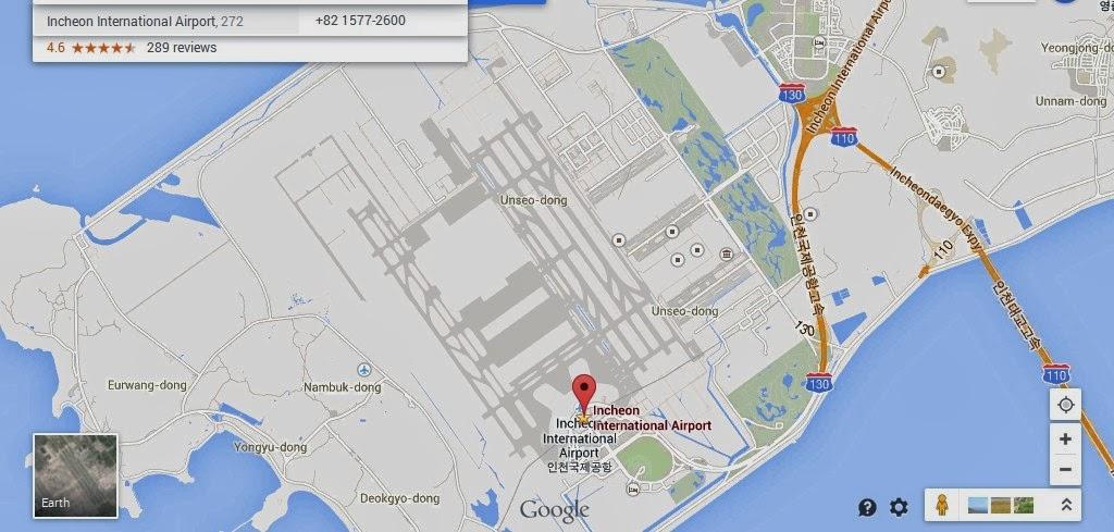 Incheon International Airport Location Map