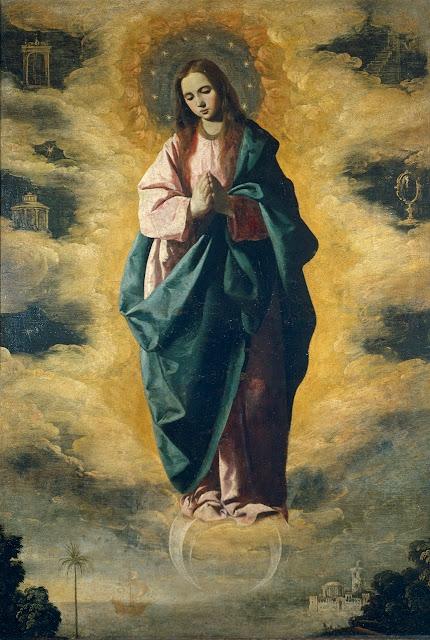 Inmaculada Concepción de Francisco de Zurbarán fechada ha. 1630 y hoy en las colecciones del Museo del Prado (3)