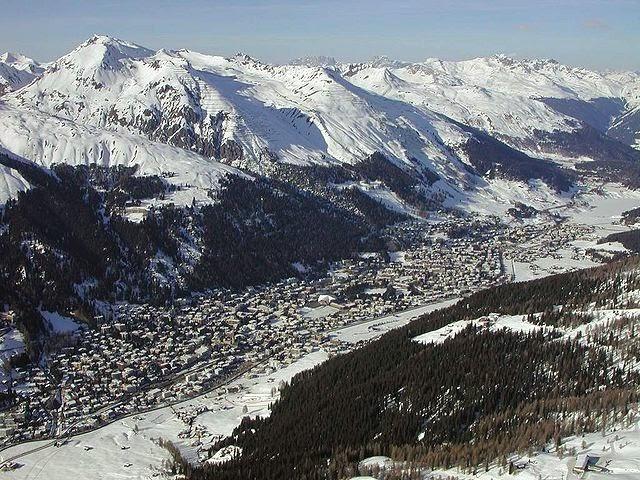 Montañas cerca de Davos, escenario de la novela La montaña mágica.