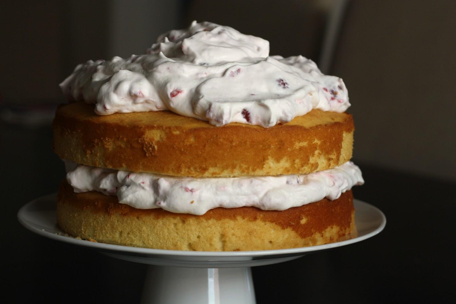 sunday sweets: raspberry-cream layer cake