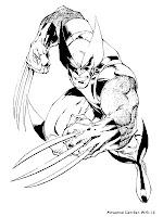 Lembar Mewarnai Gambar Wolverine