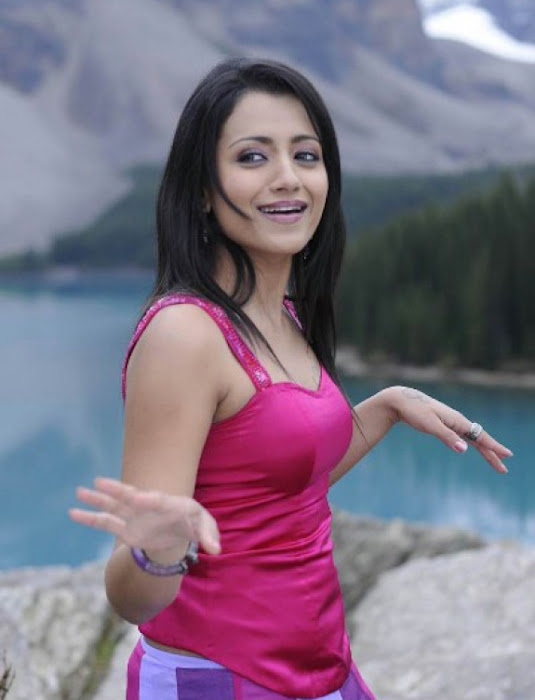 trisha in guard movie pink dress shoot song , actress pics