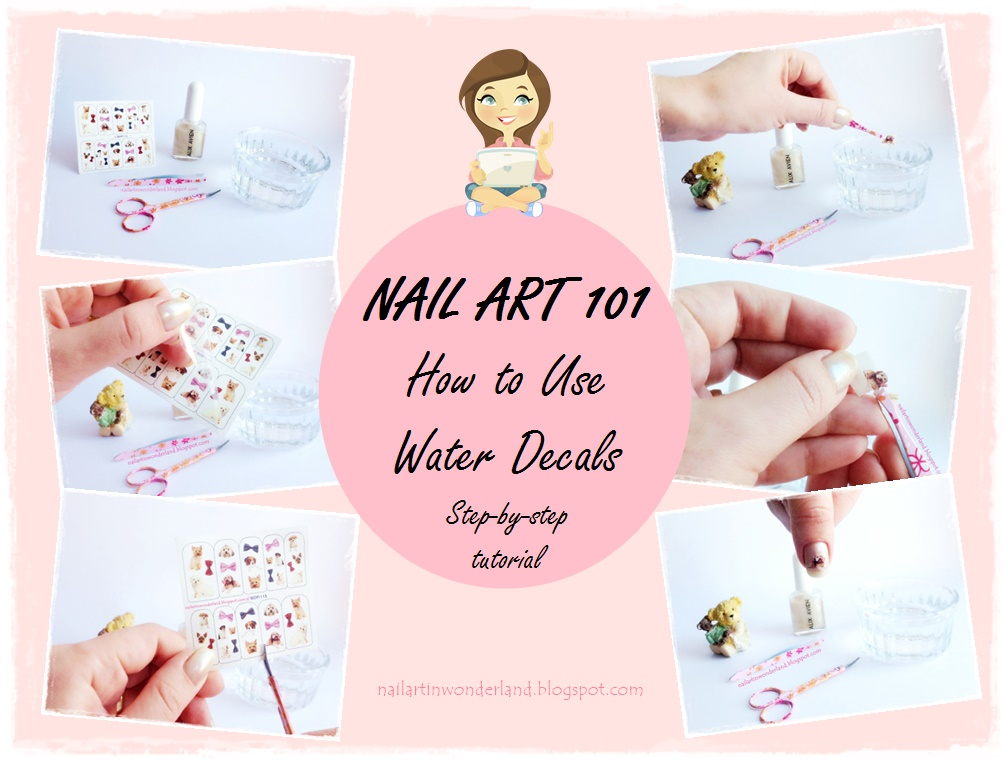 Nail Art 101: How to use nail art water decals step-by-step tutorial with pictures