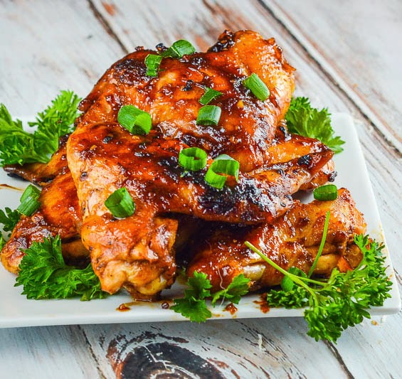 Sticky Asian Chicken Wings from What to Eat this Weekend Roundup on Anyonita Nibbles