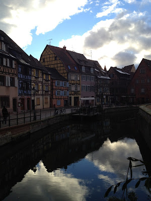 Little Venice in Colmar, France. Colourful half-timber houses on the river.