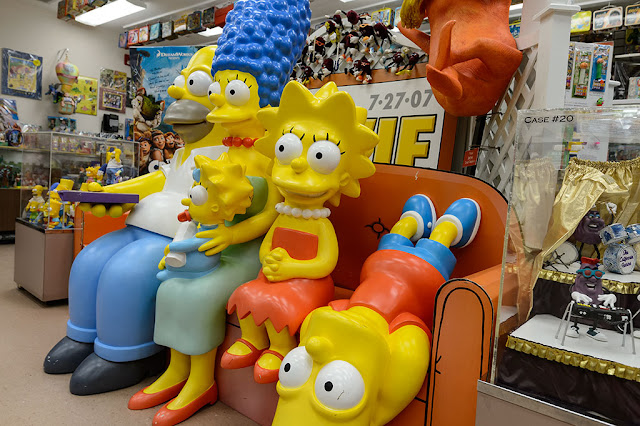 The Simpsons Watch TV at the Barker Museum