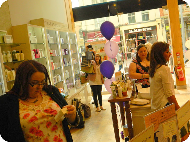 blogger event at crabtree and evelyn cardiff
