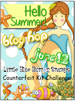 Little Blue Button Stamps - Hello Summer! - Counterfeit Kit Challenge Blog