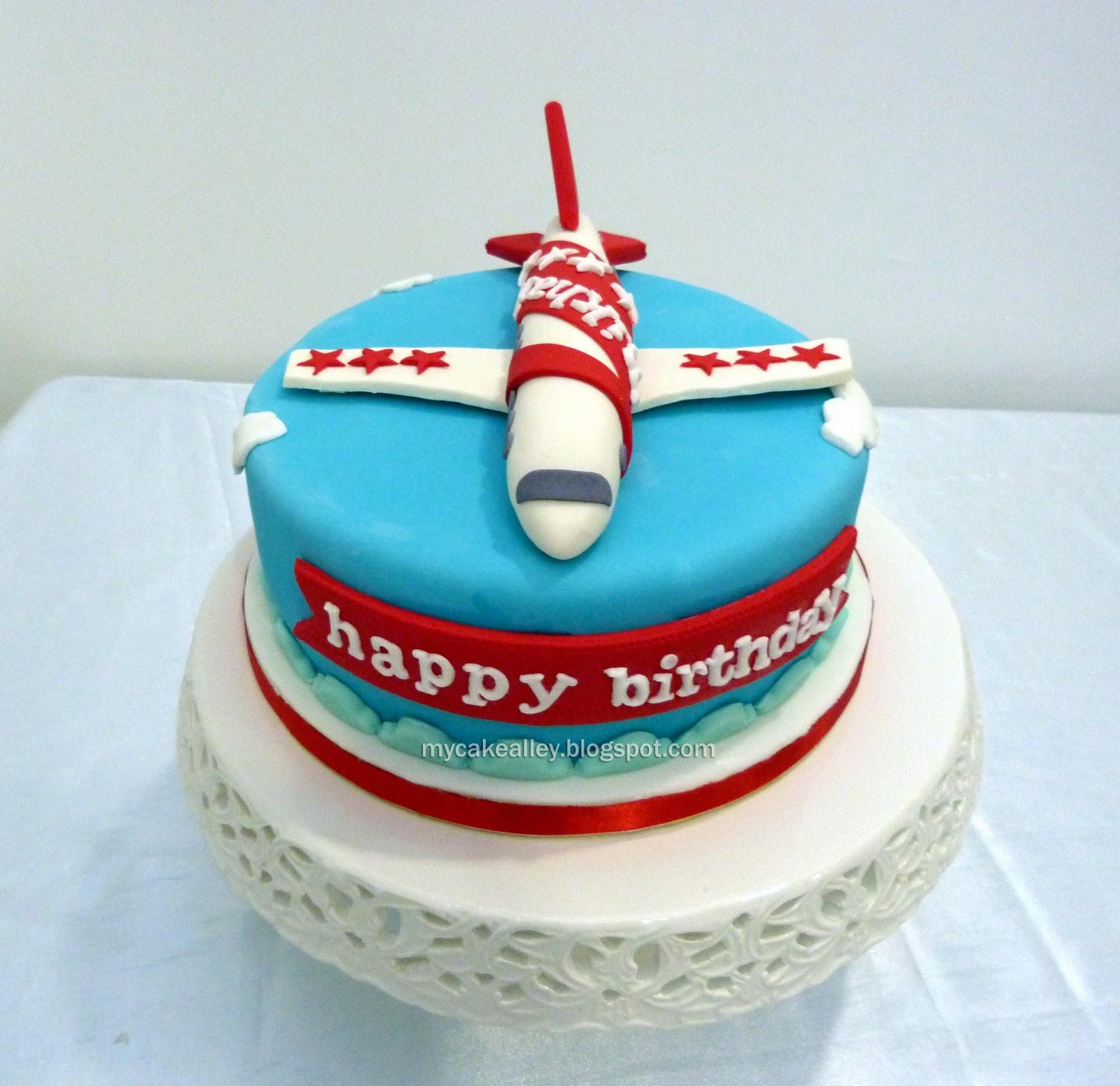 My Cake Alley: Aeroplane-themed (kids): Single-tier cake