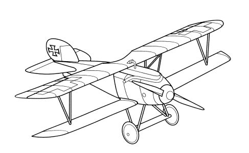 Printable Airplane Coloring Sheet